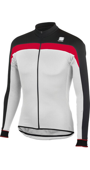 Sportful Pista Thermal jersey lange mouwen Heren wit/zwart